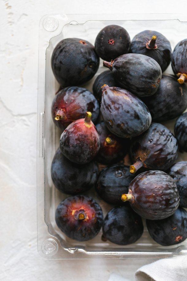 Overhead shot of fresh figs