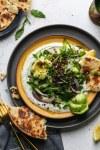 Crispy Lentil Salad with Arugula and Garlic Yogurt Sauce