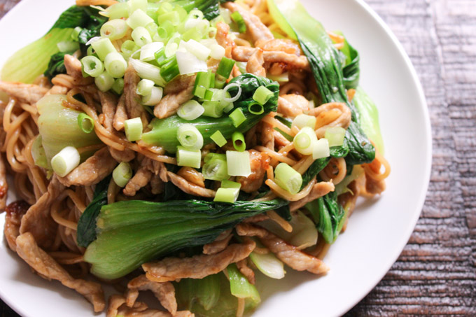 Easy Stir-fried Pork Lo Mein