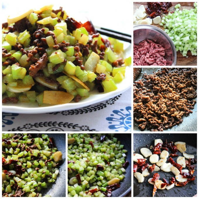 How to Make tasty ground beef with celery