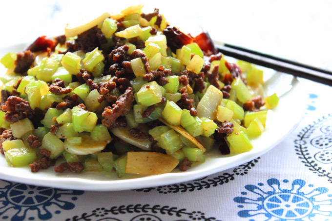 ground beef and celery