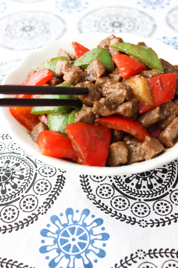Enjoy Beef with peppers