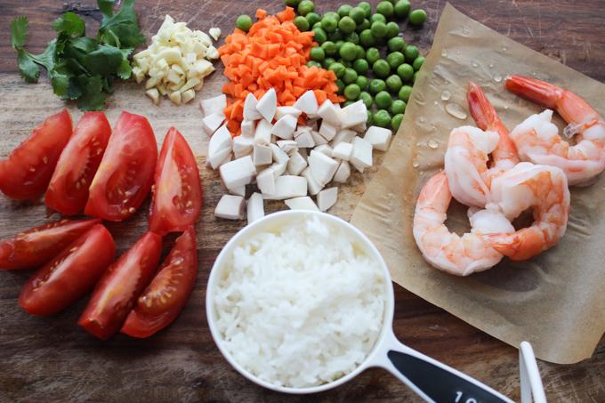 Shrimp Simmered Rice Ingredients