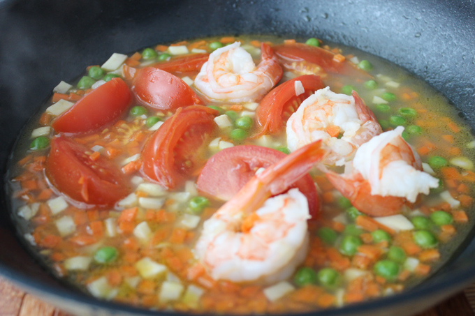 Cook Shrimp Simmered Rice