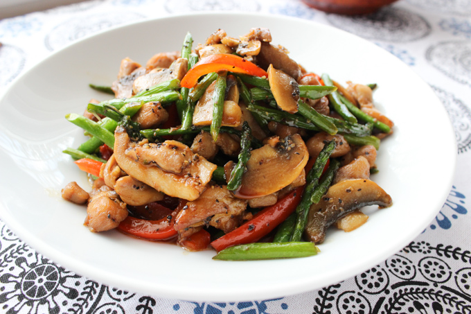 Chicken with Asparagus-11
