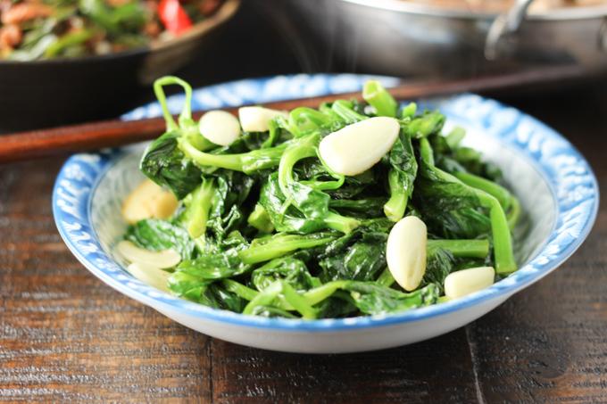 Garlic Pea Shoots Feature Image