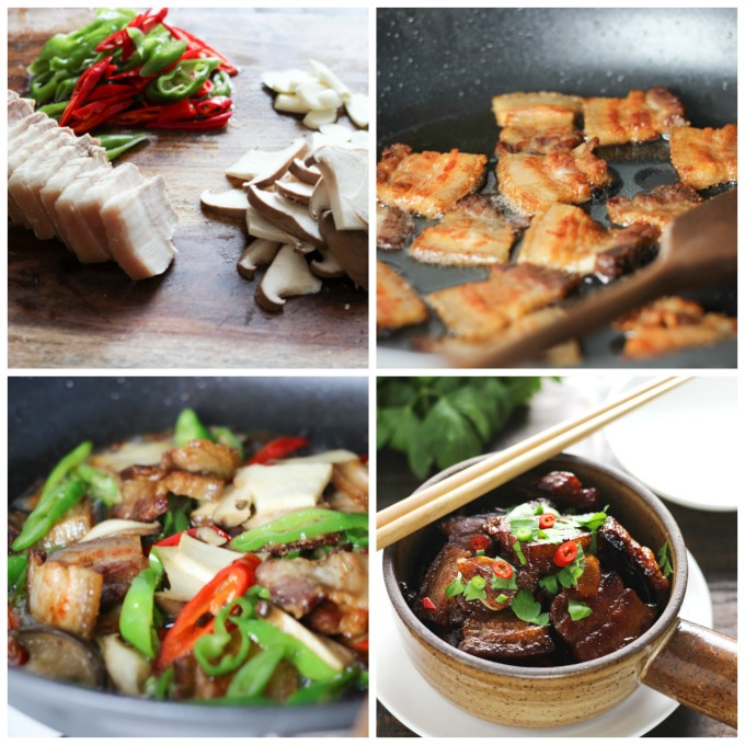 How to make Pork Belly and Mushroom