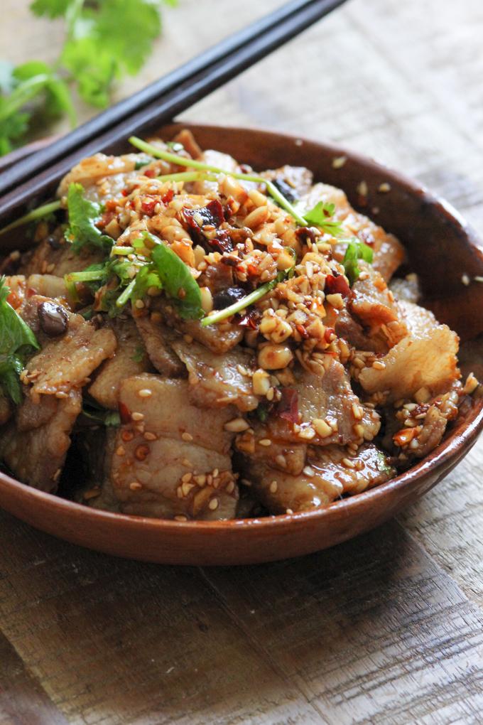 Pork Belly with Spciy Garlic Sauce
