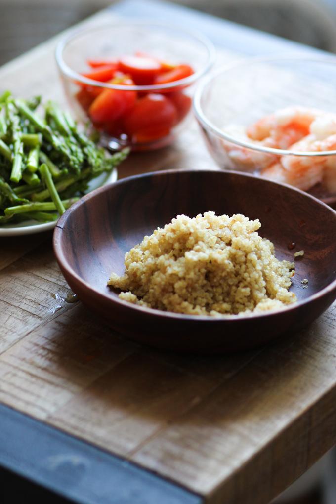 Shrimp and Asparagus Salad Ingredients