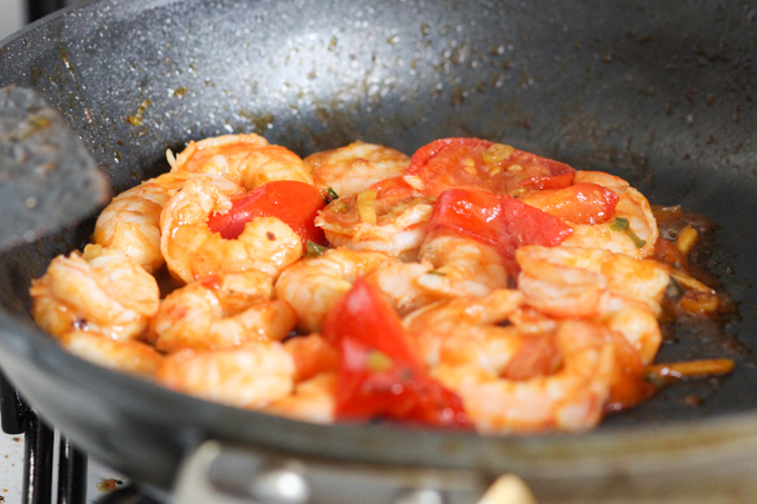 Stir-fried Shrimp