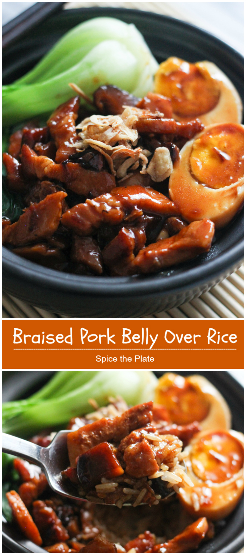 braised pork belly over rice