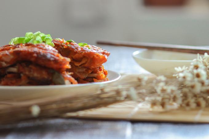Simple Kimchi Pancakes