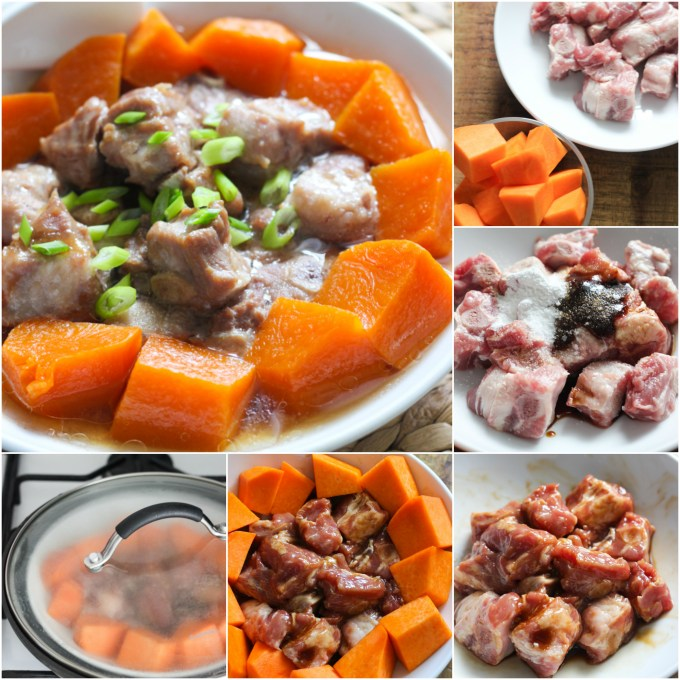 how-to-make-steamed-pork-rib-and-pumpkin