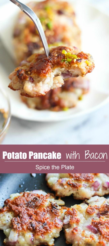 potato pancake with bacon