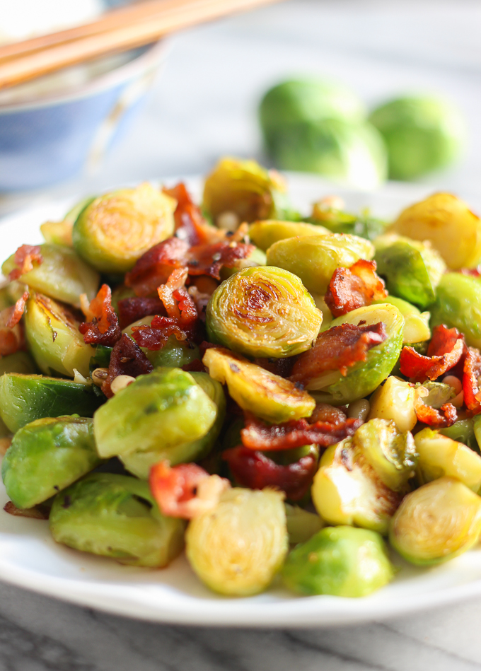 Bacon with Brussels sprouts