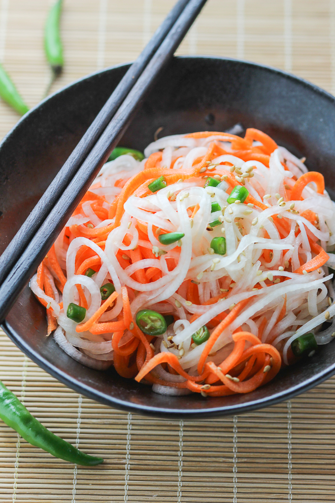 Carrot and Daikon Radish Salad