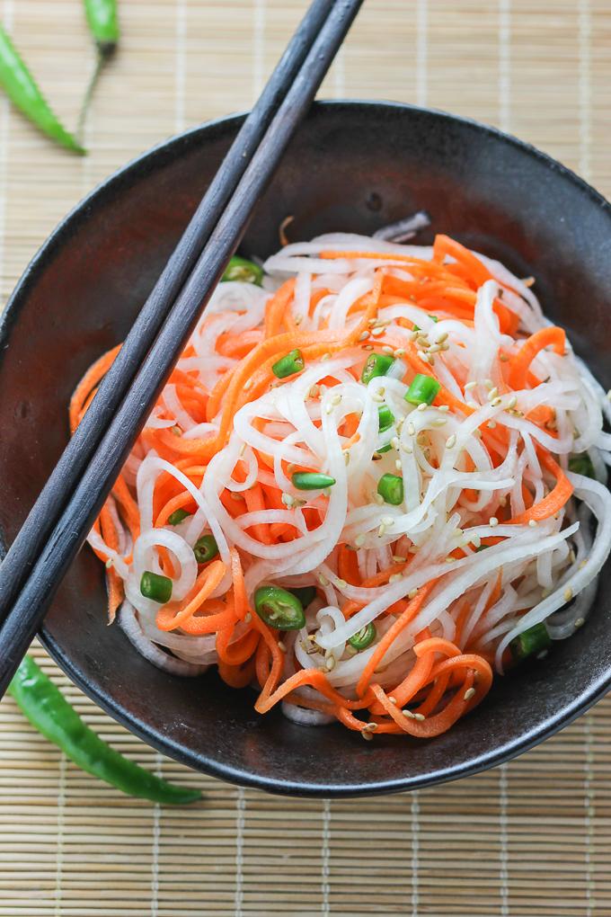 Carrot and Daikon Radish Salad Image