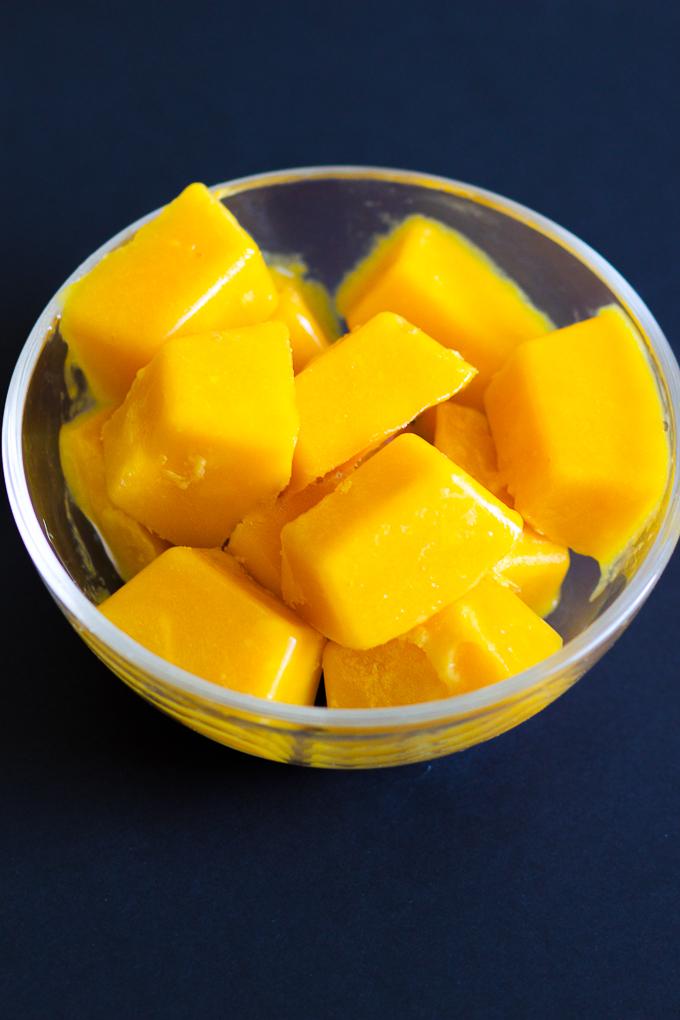 Mango Ice Cubes