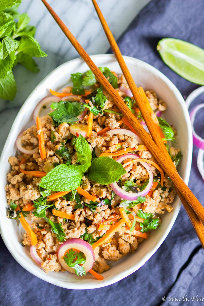 Minced Pork Over Rice Noodle