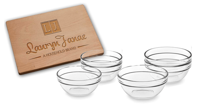 10 Gifts Under $25 for People Who Love to Cook - Stackable Glass Kitchen Prep Bowls
