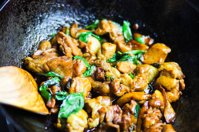 Taiwanese-Style Three Cup Chicken Step Four
