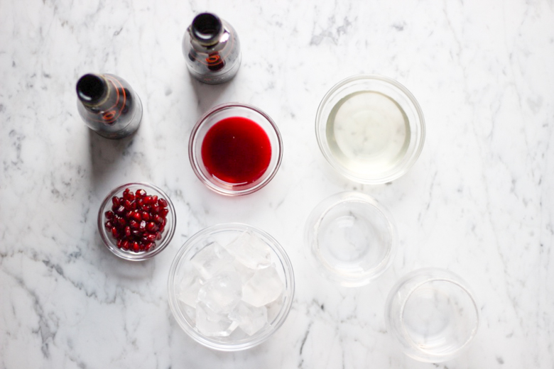 Ginger-Pomegranate Prosecco Cocktail Ingredients
