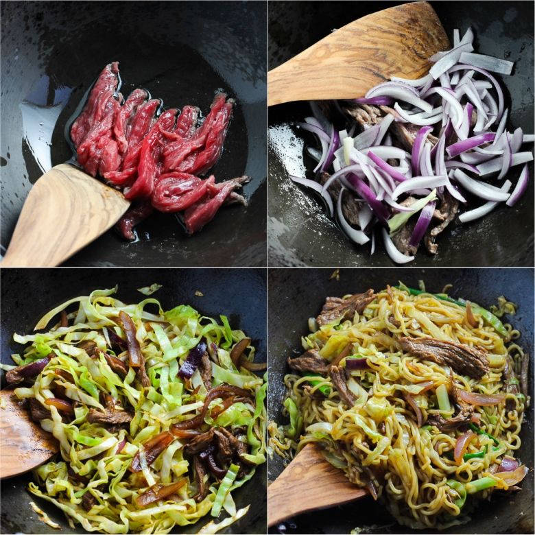 Stir-fried Ramen With Beef-Steps