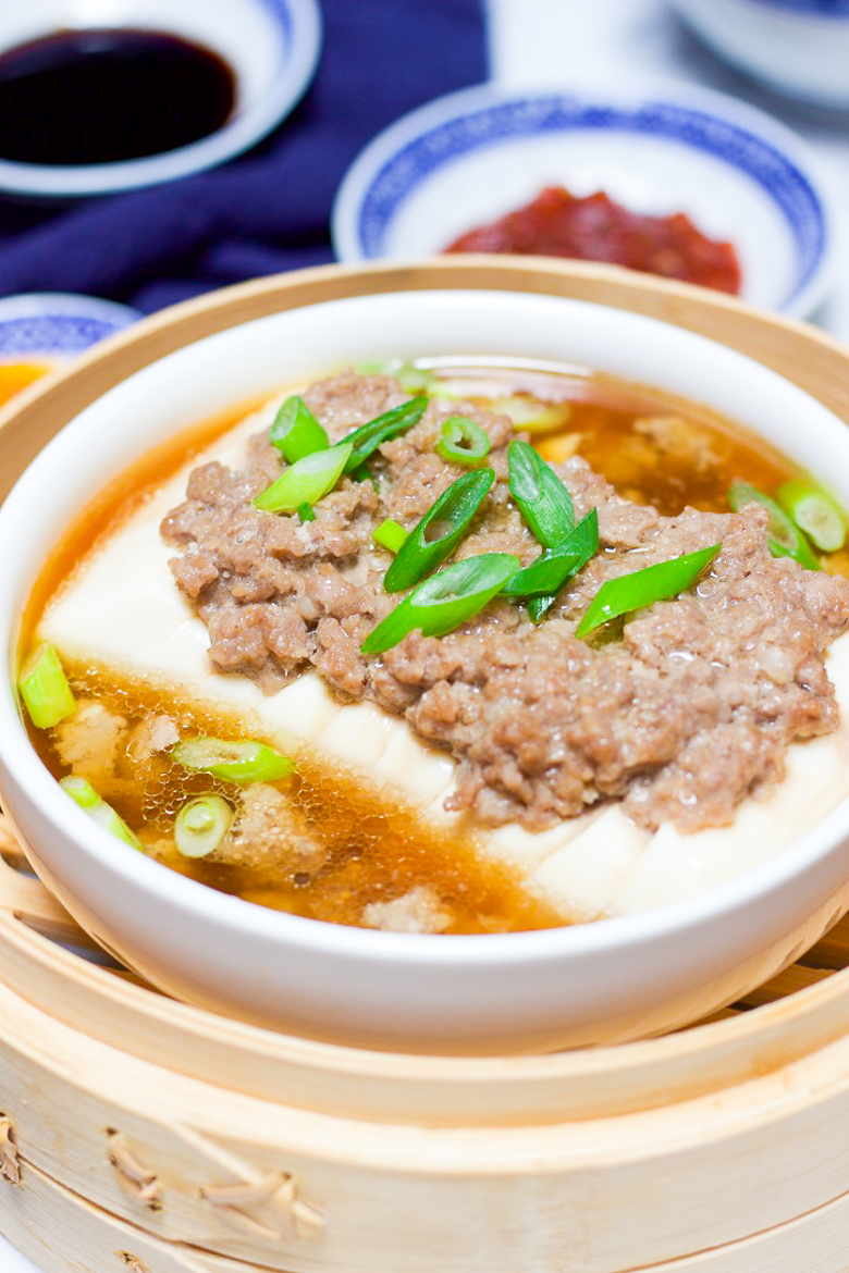 Healthy Steamed Tofu with Ground Meat