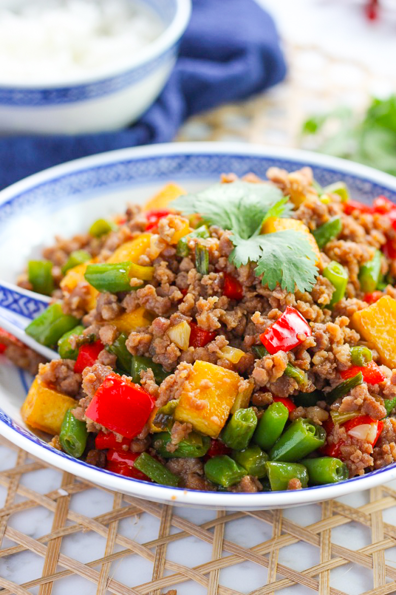 Delicious Green Bean and Tofu with Ground Pork Stir Fry