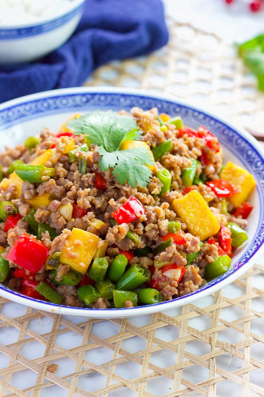 Green Bean and Tofu with Ground Pork Stir Fry