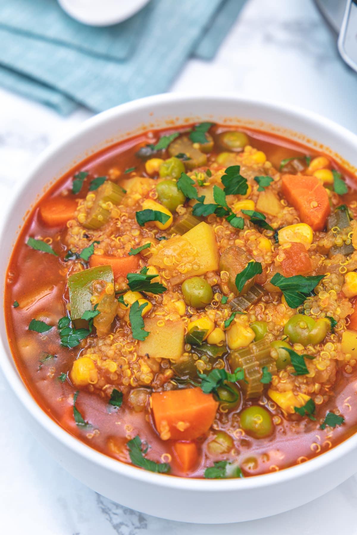 Instant Pot Quinoa Vegetable Soup