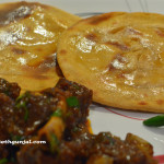 Mutton Curry with Tandoori Roti (Goat Curry with Baked Bread)