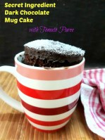Secret Ingredient Microwave Dark Chocolate Mug Cake