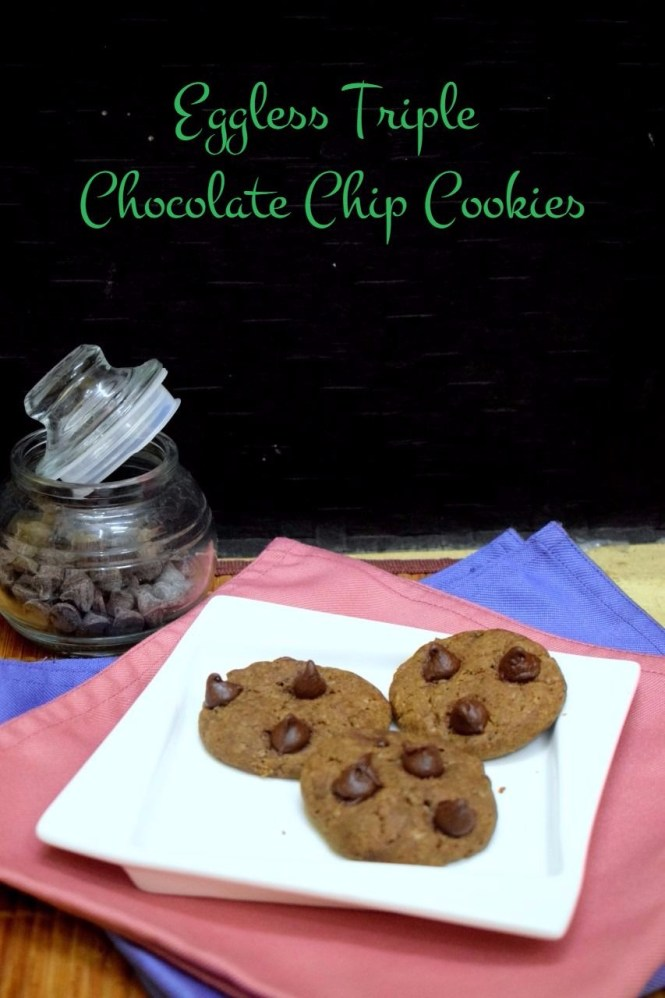 How to make Triple chocolate Chip Cookies