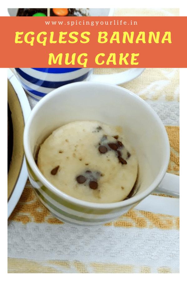 Eggless Banana Mug Cake