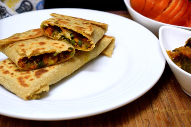 Mixed Vegetable Lifafa Paratha