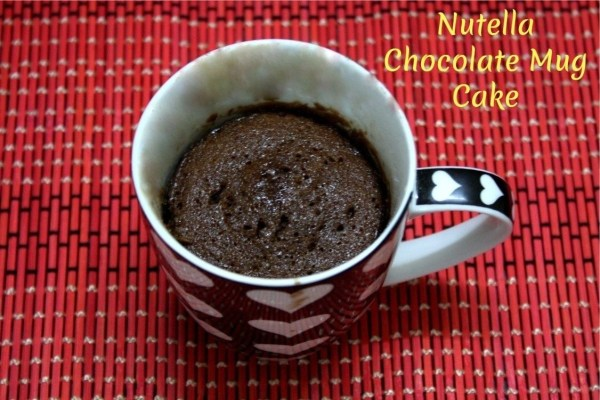 Nutella Chocolate Mug Cake
