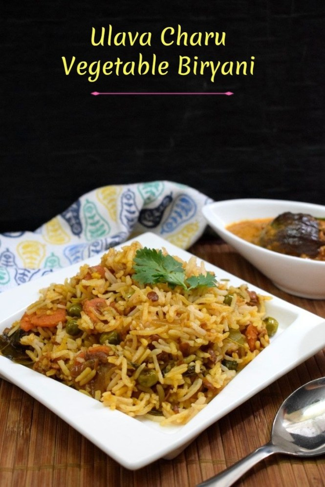 How to make Ulava Charu Vegetable Biryani