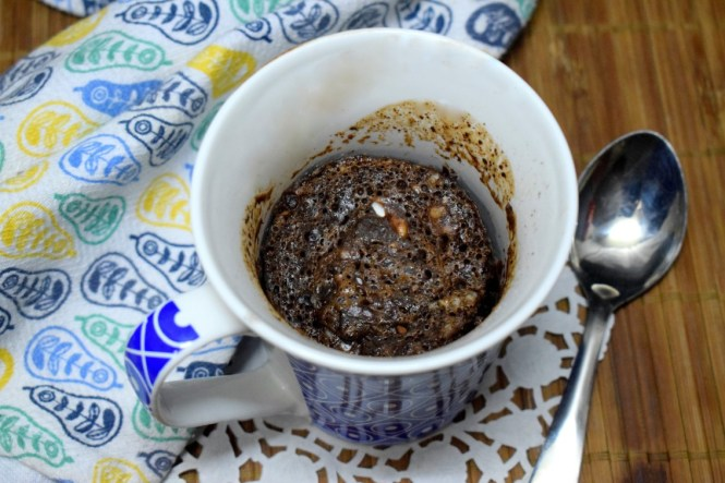Eggless Chocolate Mug Cake