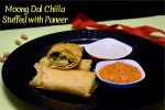 Moong Dal Chilla Stuffed with Paneer