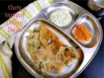 Oats Instant Onion Dosa