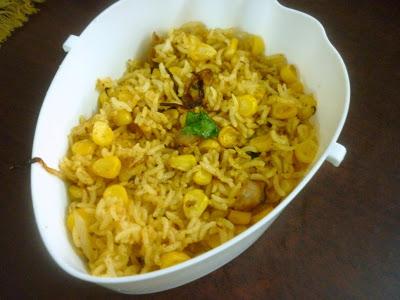 Sweet Corn Chat Rice