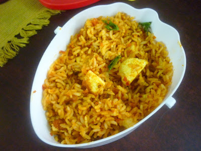 Tomato Fried Rice with Paneer
