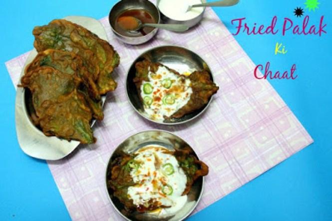 Fried Palak Ki Chaat