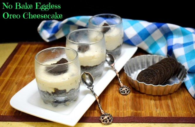 No Bake Eggless Oreo Cheesecake