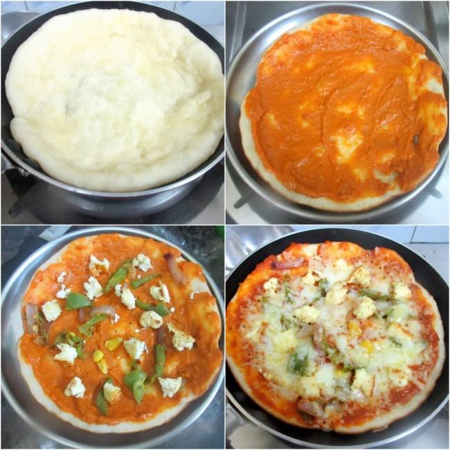 How to make Tawa Paneer Pizza 4