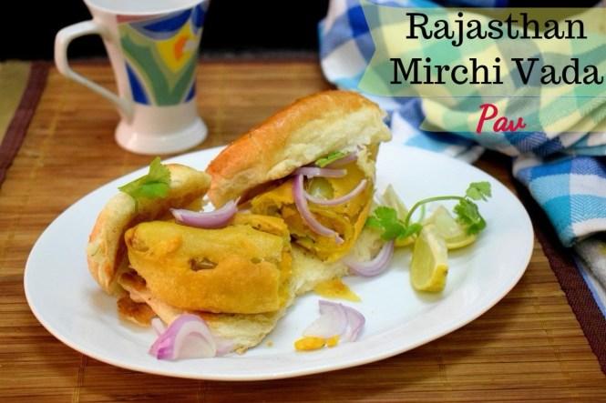 Rajasthani Mirchi Vada Pav