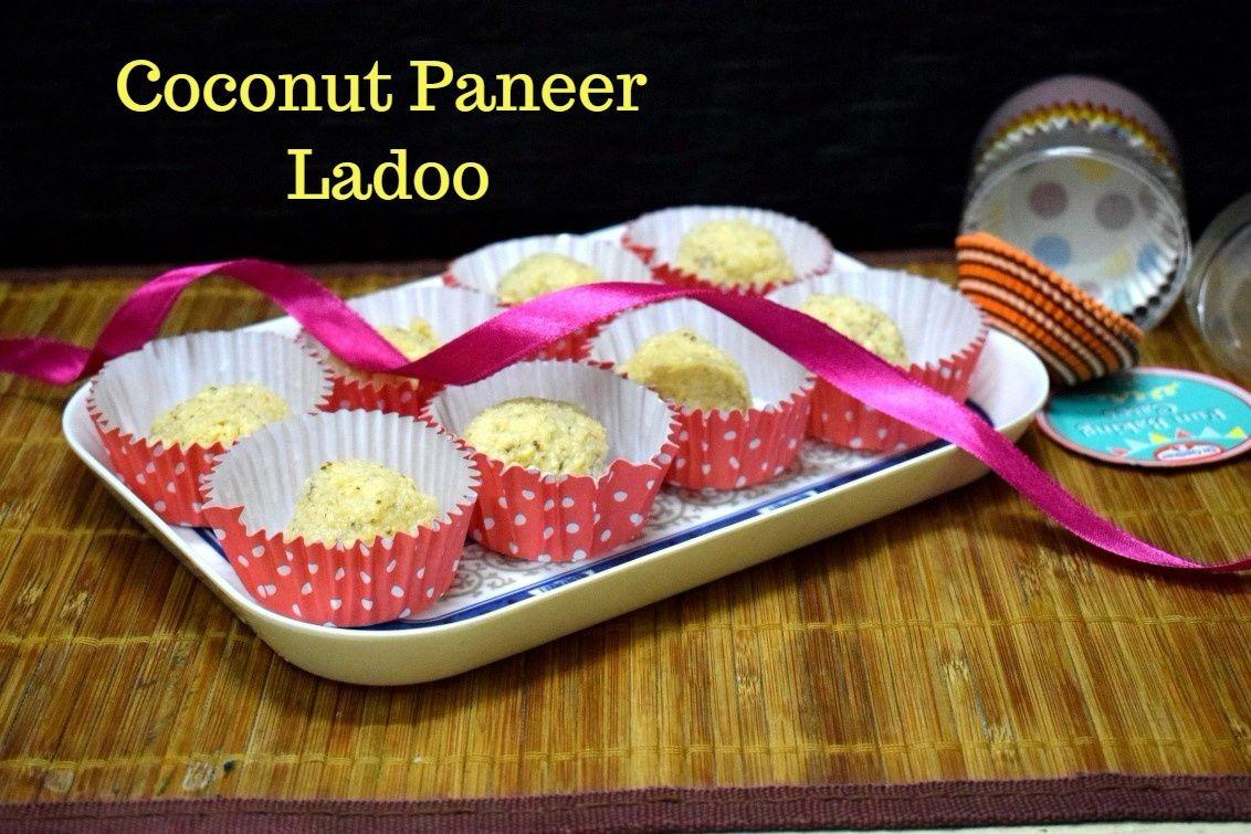 3 Ingredient Coconut Paneer Ladoo | How to make Nareli Chhena Ladoo
