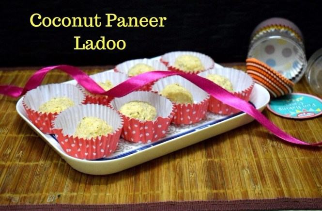Spice your life a vegetarian food blog with step by step recipes 3 ingredient coconut paneer ladoo how to make nareli chhena ladoo forumfinder Gallery
