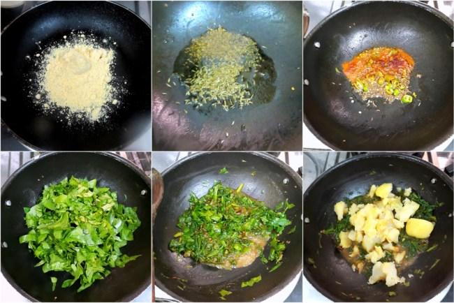 How to make Aloo Palak Paratha 1